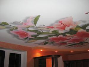 живопись на натяжном потолке