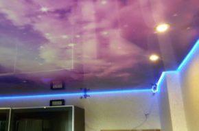 новый натяжной потолок
