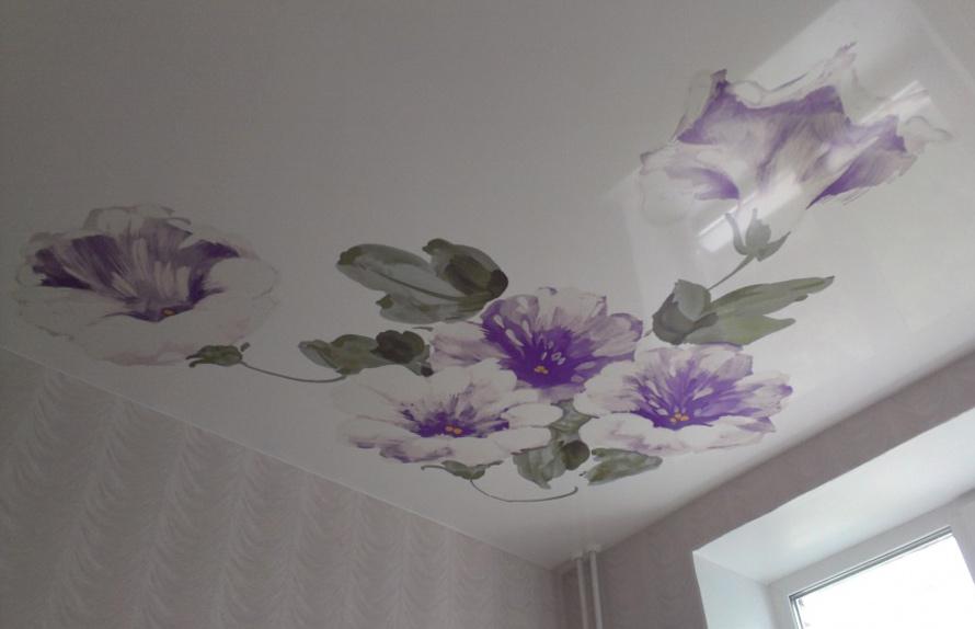 Натяжные потолки Дмитров - Фотопечать цветы на натяжных потолках 20 примеров. 4