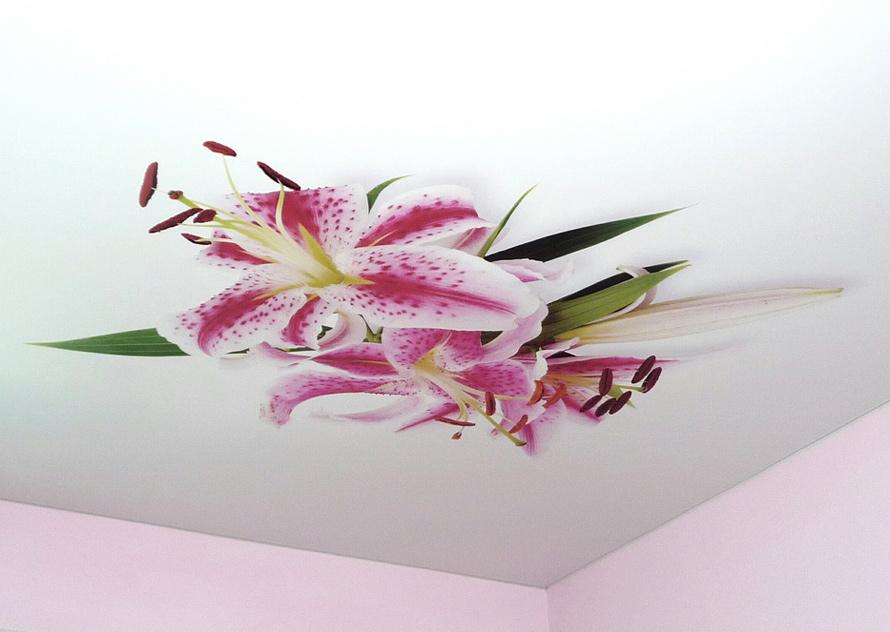 Натяжной потолок фотопечать абстракция