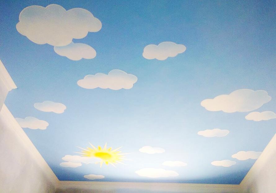 Натяжные потолки в Красноармейске - Натяжной потолок с облаками 10 фото 14