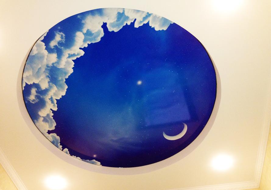 Натяжные потолки в Красноармейске - Натяжной потолок с облаками 10 фото 17