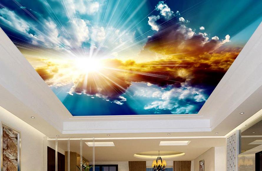 Натяжные потолки в Красноармейске - Натяжной потолок с облаками 10 фото 18