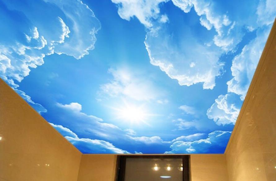Натяжные потолки в Красноармейске - Натяжной потолок с облаками 10 фото 4