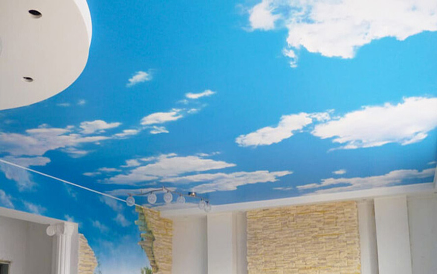 Натяжные потолки в Красноармейске - Натяжной потолок с облаками 10 фото 5