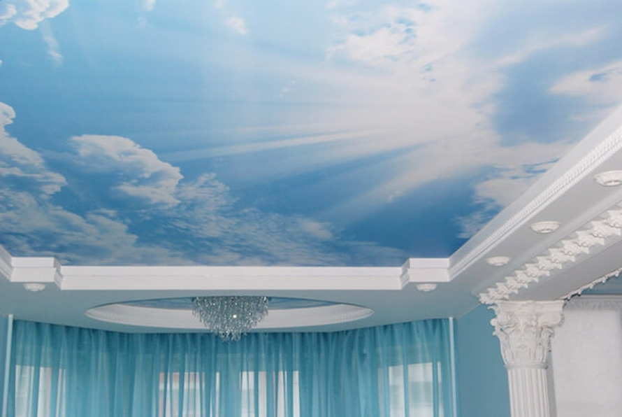 Натяжные потолки в Красноармейске - Натяжной потолок с облаками 10 фото 6