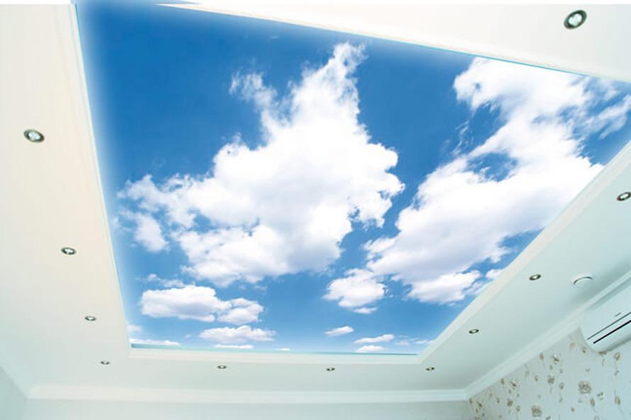 Натяжные потолки в Красноармейске - Натяжной потолок с облаками 10 фото 7