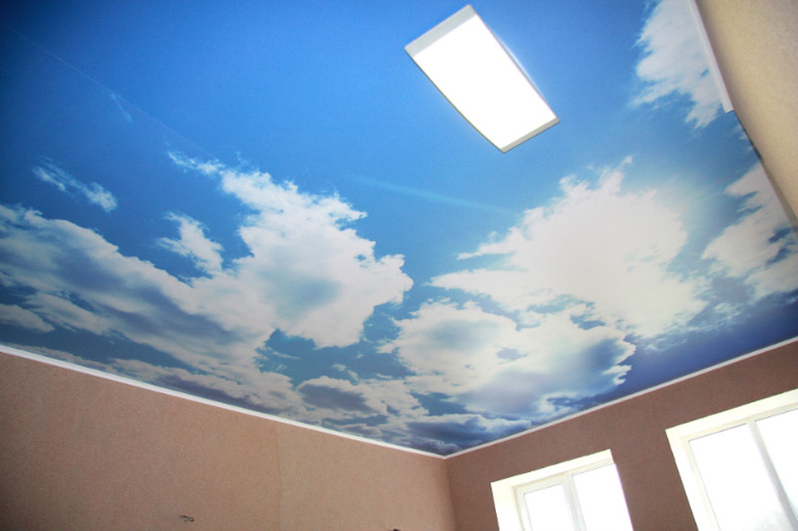 Натяжные потолки в Красноармейске - Натяжной потолок с облаками 10 фото 8