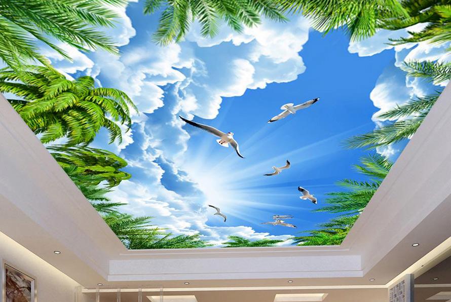Натяжные потолки в Красноармейске - Натяжной потолок с облаками 10 фото 10