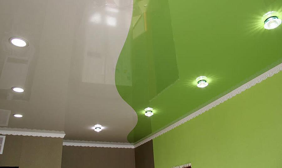 выбор натяжного потолка для кухни